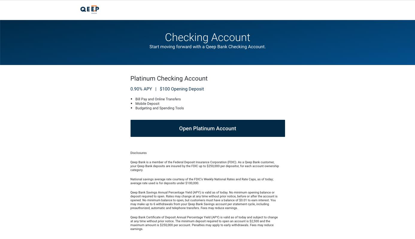 AO.3 Checking Account